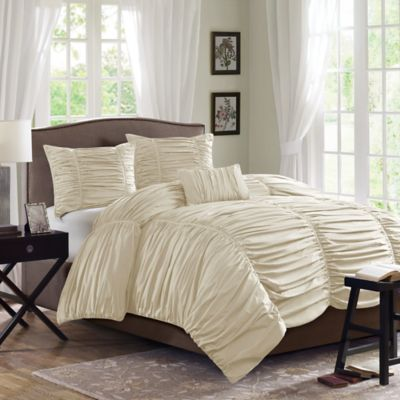 Madison Park Delancy King Duvet Cover Set in Khaki