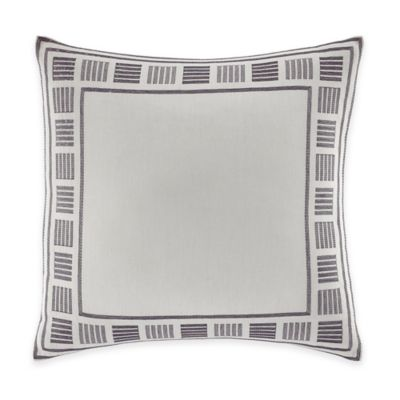 Nautica® Ayer Embroidered Square Throw Pillow in Grey