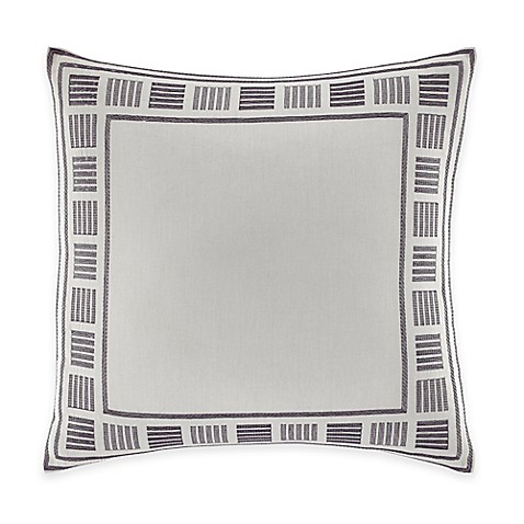Nautica® Ayer Embroidered Square Throw Pillow in Grey - Bed Bath ...