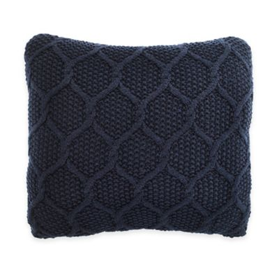 Nautica® Ayer Knit Square Throw Pillow in Navy