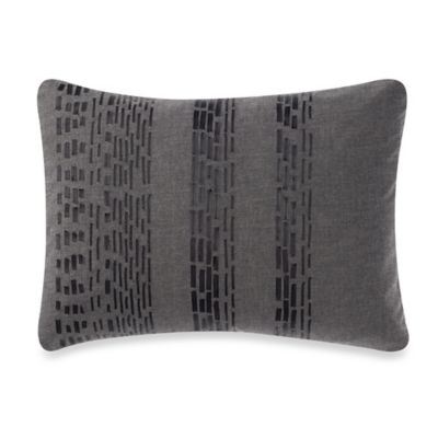 Vera Wang Home Pom Pom Ribbon Breakfast Throw Pillow in Grey