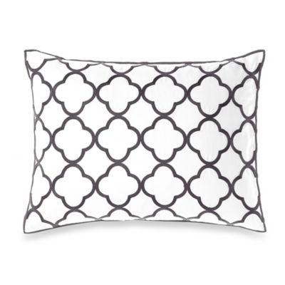Vera Wang Home Pom Pom Breakfast Throw Pillow in Grey/White