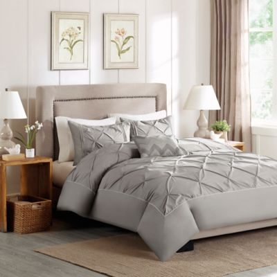 Madison Park Celine Full/Queen Duvet Cover Set in Grey