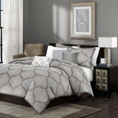 Madison Park Amara Full/Queen Duvet Cover Set in Mocha