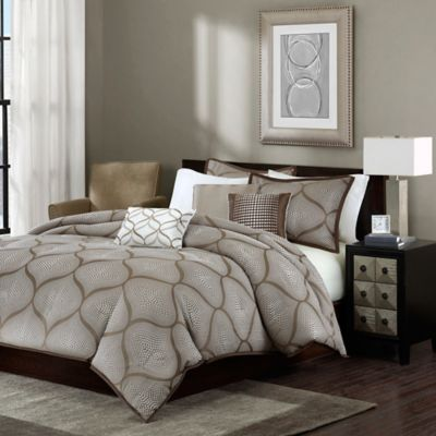 Madison Park Amara King/California King Duvet Cover Set in Mocha