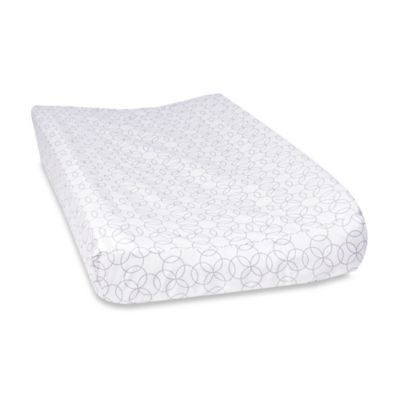 Trend Lab® Grey and White Circles Changing Pad Cover