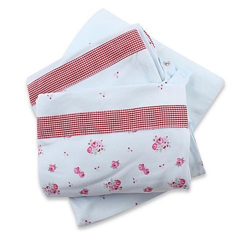 Buy Minene 3 in 1 Rose Print Crib Sheet and Protector Set
