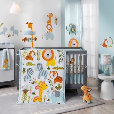 Lambs & Ivy® Dena Happi Jungle 4-Piece Crib Bedding Set