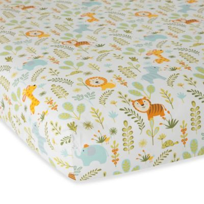 Lambs & Ivy® Dena Happi Jungle Fitted Crib Sheet