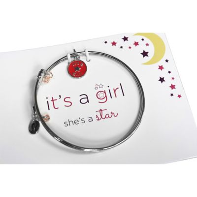 trinky things® Star Bangle Bracelet/Card Gift Set for Mom in Pink