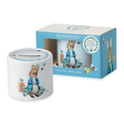 Wedgwood® Peter Rabbit™ Ceramic Money Box in Blue Multi