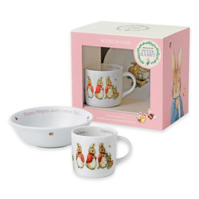 Wedgwood® Peter Rabbit™ 2-Piece Porcelain Bowl and Mug Set in Pink Multi