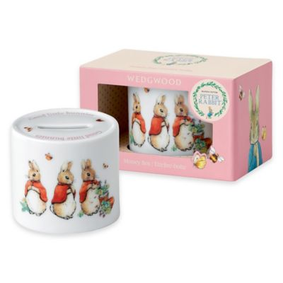 Wedgwood® Peter Rabbit™ Ceramic Money Box in Pink Multi