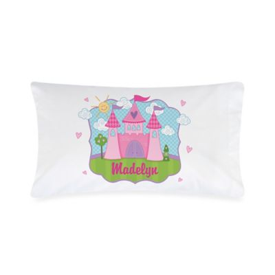 Princess Castle Pillowcase in White/Pink