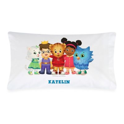 """Daniel Tiger s Neighborhood"" Pillowcase in White/Multicolor"