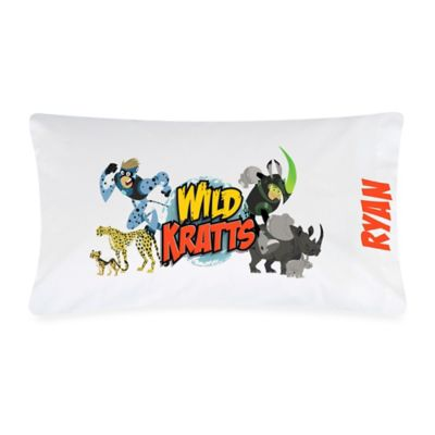 """Wild Kratts"" Pillowcase in White/Multicolor"