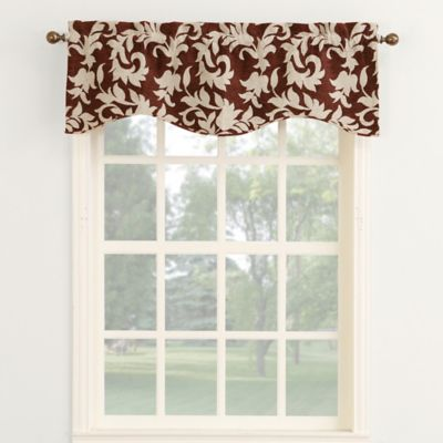 Woven Chenille 18-Inch Curved Window Valance in Ink