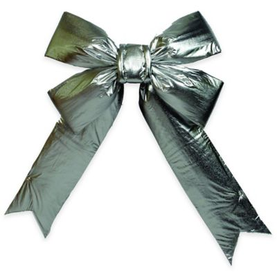 Vickerman 24-Inch x 30-Inch Lamé Bow in Silver