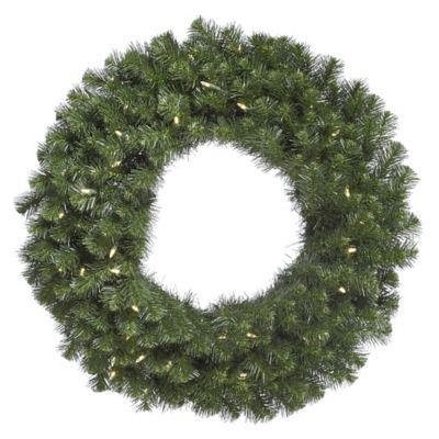 Vickerman Douglas Fir 72-Inch Pre-Lit Wreath with Warm White LED Lights