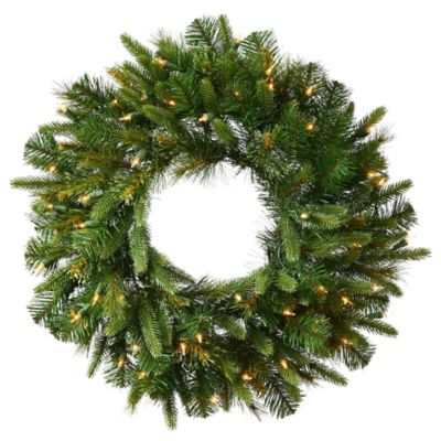 Vickerman Cashmere Pine 30-Inch Dura-Lit Pre-Lit Wreath with Clear Lights