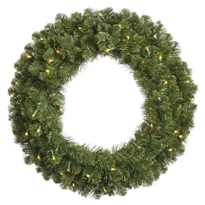 Vickerman Grand Teton 36-Inch Pre-Lit Wreath with Warm White LED Lights