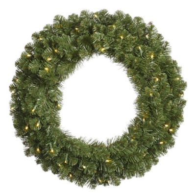 Vickerman Grand Teton 48-Inch Pre-Lit Wreath with Warm White LED Lights