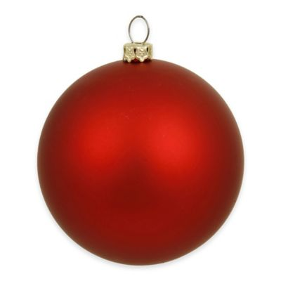 Vickerman 12-Inch Matte Red Ball Ornament