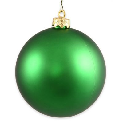 Vickerman 12-Inch Green Matte Ball Ornament