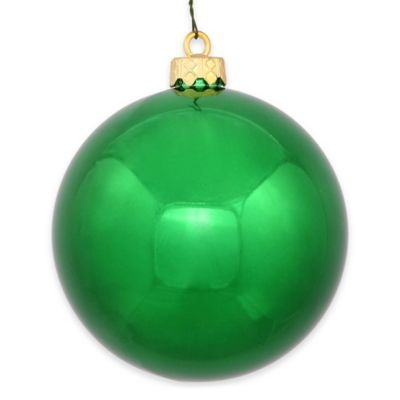 Vickerman 12-Inch Shiny Green Ball Ornament