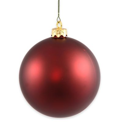 Vickerman 12-Inch Matte Burgundy Ball Ornament