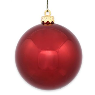 Vickerman 12-Inch Shiny Burgundy Ball Ornament