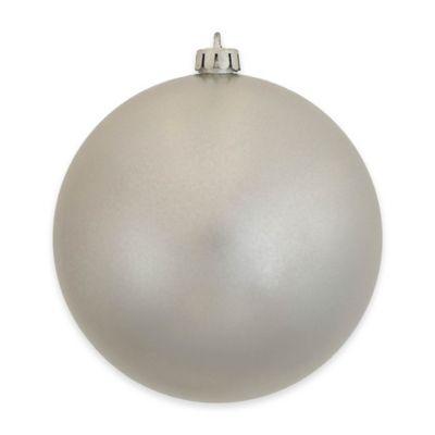 Vickerman 12-Inch Silver Candy Finish Ornament