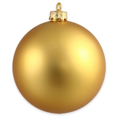 Vickerman 12-Inch Gold Matte Ball Ornament