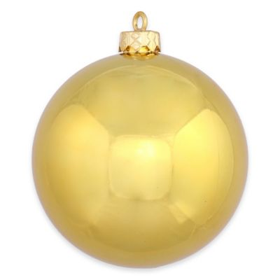 Vickerman 12-Inch Shiny Gold Ball Ornament