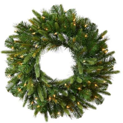 Vickerman Cashmere Pine 42-Inch Dura-Lit Pre-Lit Wreath with Clear Lights