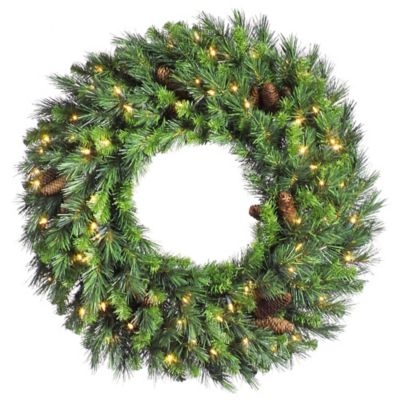 Vickerman Cheyenne Pine 72-Inch Dura-Lit Pre-Lit Wreath with Clear Lights