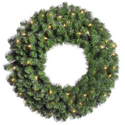 Vickerman 36-Inch Douglas Fir Pre-Lit Wreath with Clear Lights