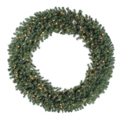 Vickerman Douglas Fir 72-Inch Dura-Lit Pre-Lit Wreath with Clear Lights
