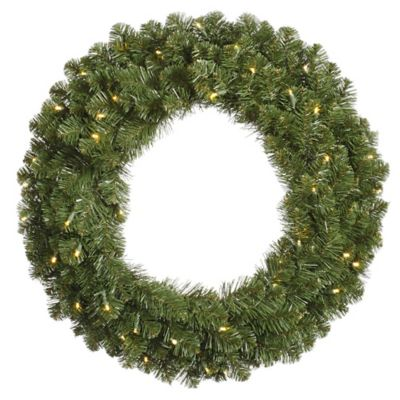 Vickerman Grand Teton 48-Inch Dura-Lit Pre-Lit Wreath with Clear Lights