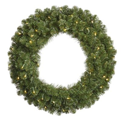 Vickerman Grand Teton 60-Inch Dura-Lit Pre-Lit Wreath with Clear Lights