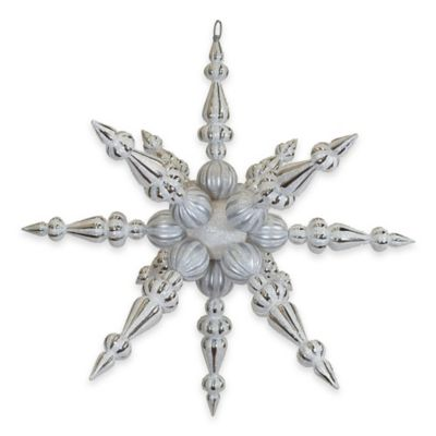 Vickerman 30-Inch White Iridescent Radical Snowflake