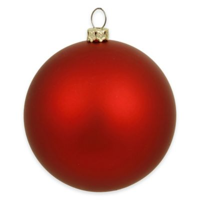 Vickerman 15.75-Inch Matte Red Ball Ornament