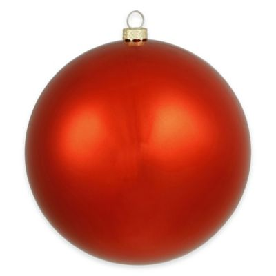 Vickerman 15.75-Inch Shiny Red Ball Ornament