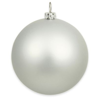 Vickerman 15.75-Inch Matte Silver Ball Ornament