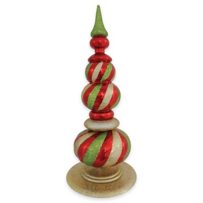 Vickerman 32-Inch Jumbo Finial Ornament in Red/Lime/Gold