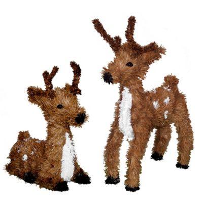 Vickerman Outdoor 2-Piece Standing and Resting Reindeer Set