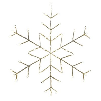 Vickerman 48-Inch Pre-Lit Wire Snowflake Outdoor Decoration