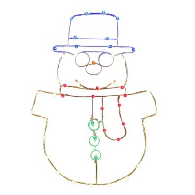 Vickerman 48-Inch Pre-Lit Wire Snowman Outdoor Decoration
