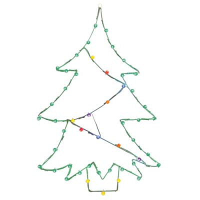 Vickerman 48-Inch Pre-Lit Wire Christmas Tree Outdoor Decoration with Multicolor Lights