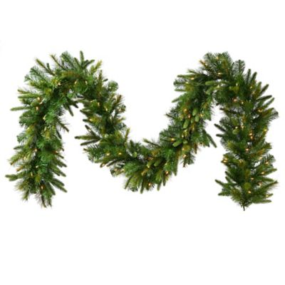 Vickerman 9-Foot Cashmere Pine Pre-Lit Garland with Clear Lights